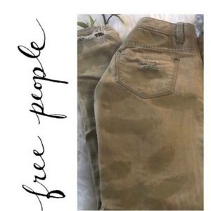 Free people camo denim size 27